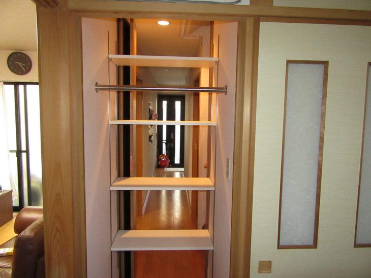 兵庫県尼崎市M様 廊下に収納棚を♫大工の作る造作収納棚リフォーム