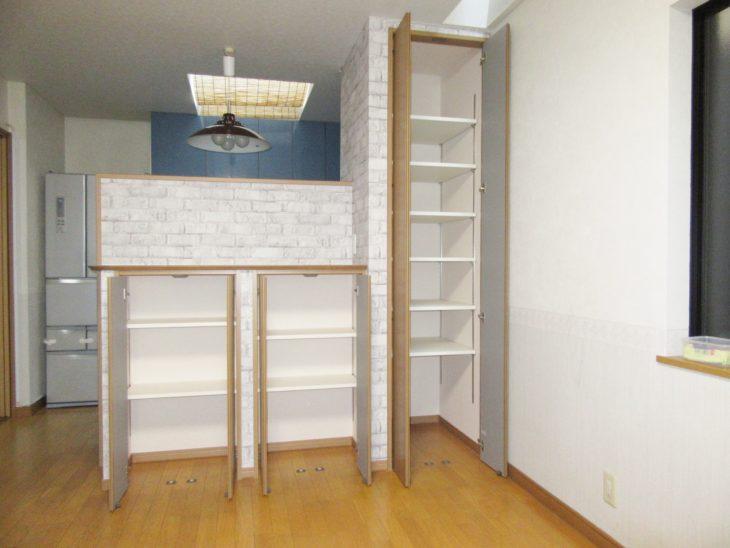 兵庫県尼崎市 M様邸 キッチン造作棚設置工事