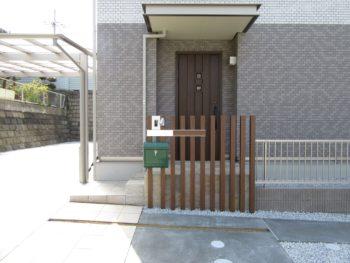 河内長野市 T様 玄関アプローチ・造作門柱工事