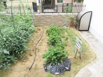 熱い夏も快適な野菜作りを♪家庭菜園に自動潅水リフォーム 羽曳野市 K様