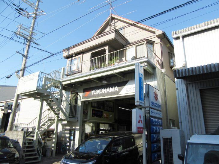 堺市 カークイックサービス様 外壁塗装