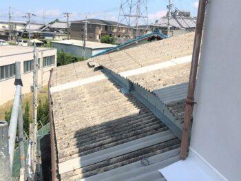 【倉庫リフォーム】スレート屋根修繕リフォーム 和泉市 K様