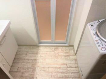 【内装リフォーム】洗面室のクッションフロア交換 松原市 I様邸