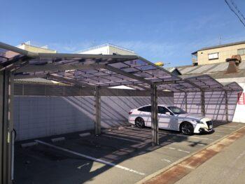 【大工出張サービス】駐車場カーポート(モータープール)の雨樋清掃 B様邸