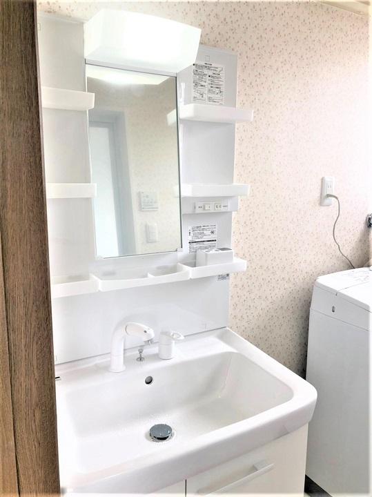 【戸建てリフォーム】洗面化粧台・洗面室リフォーム 貝塚市 S様邸