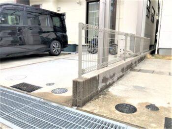 【車両事故復旧工事】ブロック・フェンス復旧工事 和泉市 F様邸