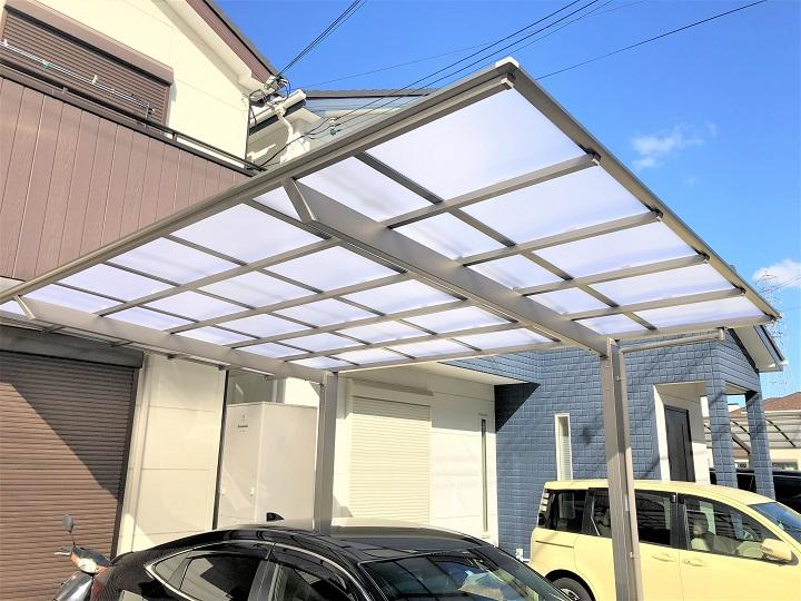 【台風被害復旧工事】カーポート・外壁・シャッター復旧工事 和泉市 F様邸