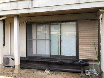 堺市美原区の家 一階の縁側